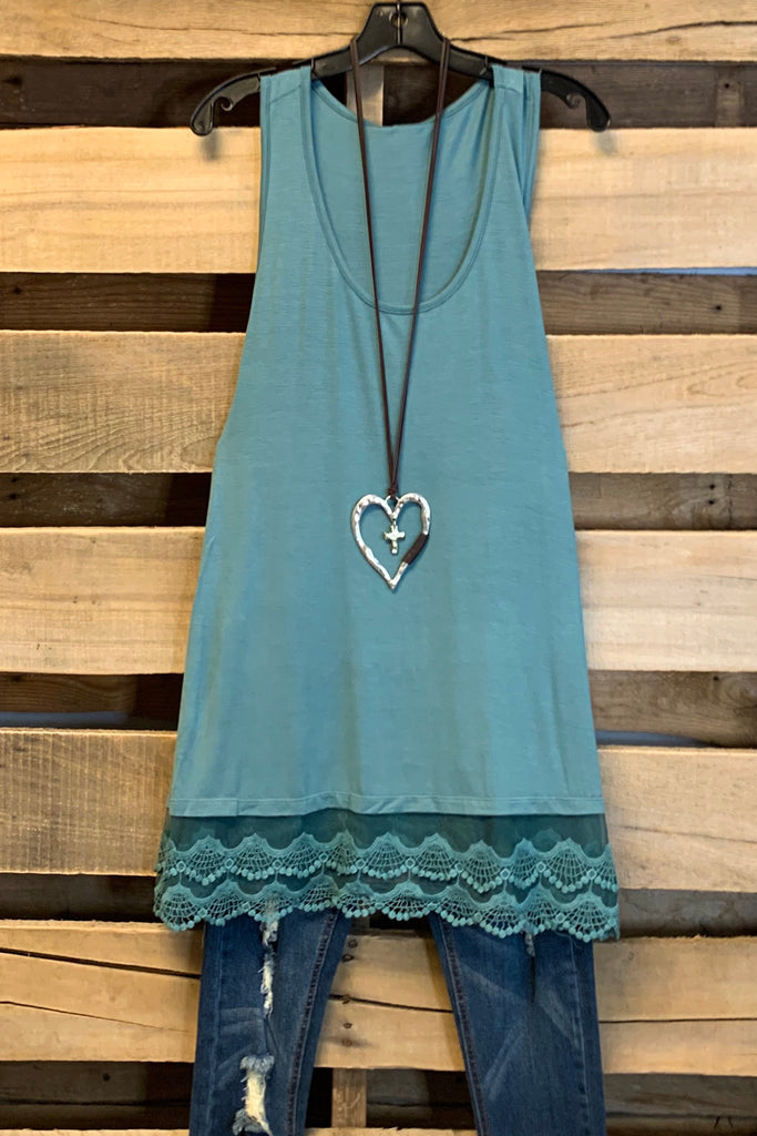 Extender: Slip on Tank/Tunic - Antique Blue