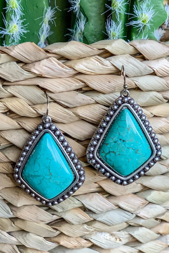 AUTHENTIC TURQUOISE STONE - Lino Earrings
