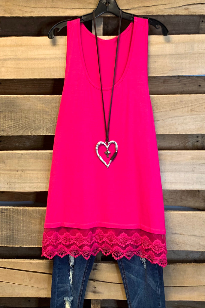 Extender: Slip on Tank/Tunic - Hot Pink