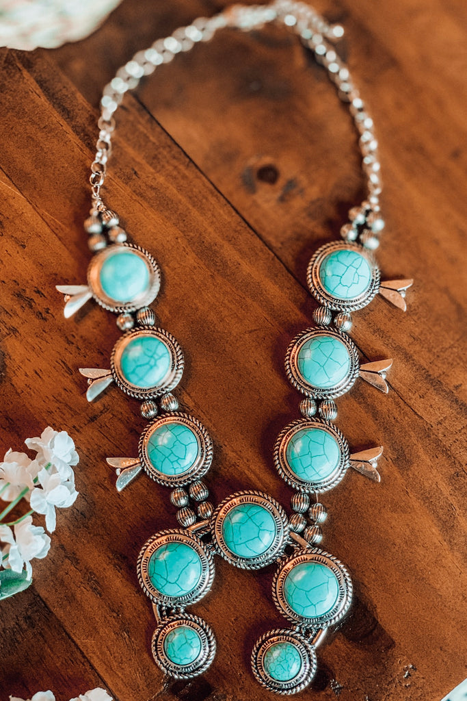 Linda Vibes Silver Turquoise Necklace