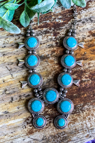 Southwestern Sweetheart Necklace - Turquoise