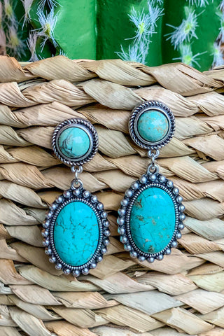 AUTHENTIC TURQUOISE STONE - Cheyenne Necklace