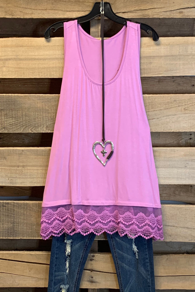 Extender: Slip on Tank/Tunic - Pink Lilac
