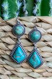 AUTHENTIC TURQUOISE STONE - Time Holder Earring