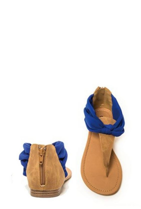 Wonderland Sandals - Royal Blue - SALE - Angel Heart Boutique - Shoes - Angel Heart Boutique  - 1