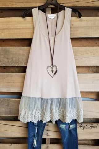 Romantic At Heart Extender - Heather Grey - Adjustable Straps