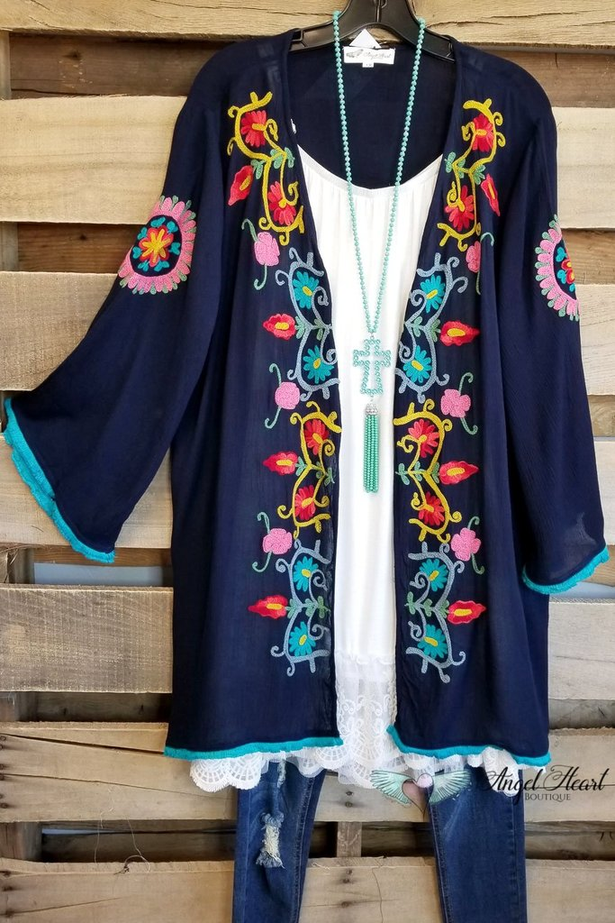 Just Surprise Me Cardigan - Navy [product type] - Angel Heart Boutique