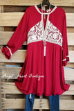 All You Can See Dress - Crimson - SALE [product type] - Angel Heart Boutique