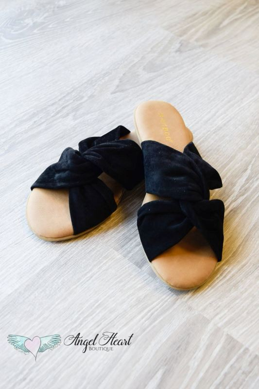 Tie The Knot Sandals - Black - - Shoes