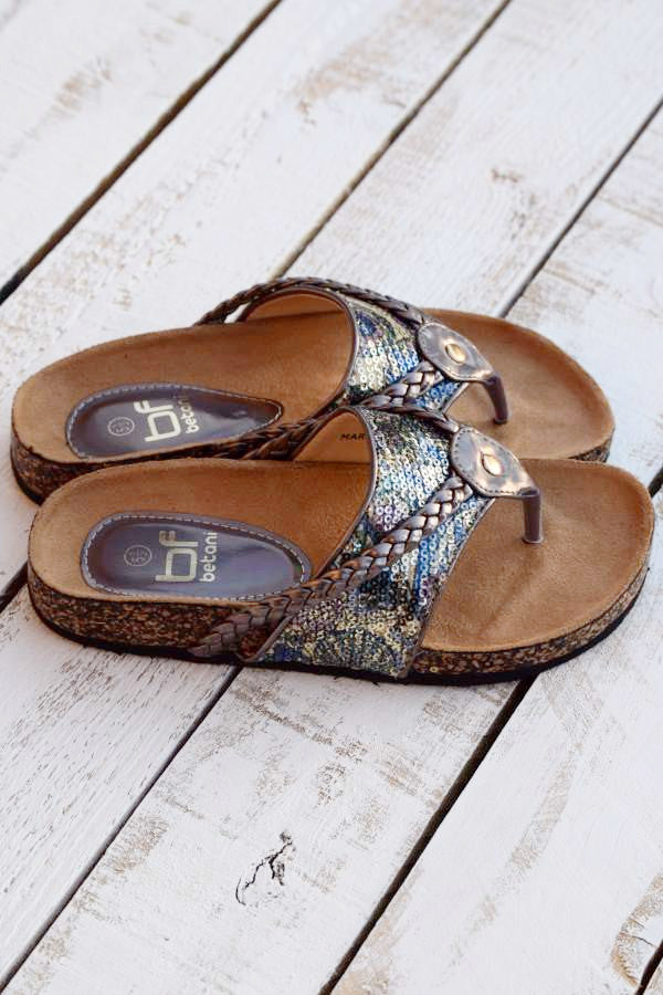 Wild Shine Flat - Pewter - (Only 6 & 5.5 Left) - Angel Heart Boutique - Shoes - Angel Heart Boutique  - 7