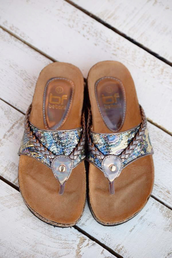 Wild Shine Flat - Pewter - (Only 6 & 5.5 Left) - Angel Heart Boutique - Shoes - Angel Heart Boutique  - 3