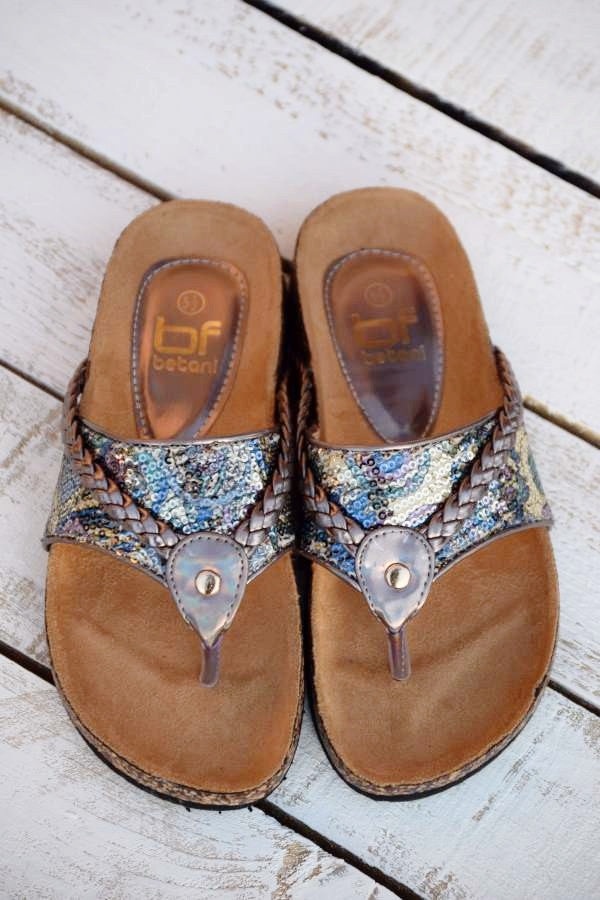 Wild Shine Flat - Pewter - (Only 6 & 5.5 Left) - Angel Heart Boutique - Shoes - Angel Heart Boutique  - 1