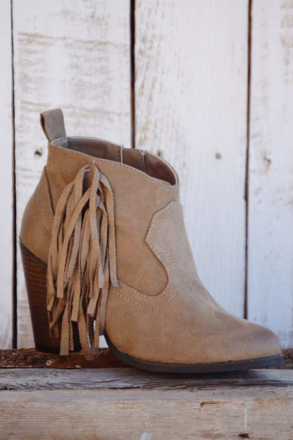The Lonestar Booties - Taupe - Angel Heart Boutique - Booties - Angel Heart Boutique  - 3