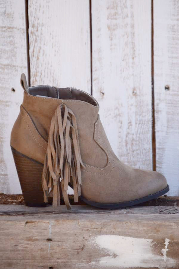 The Lonestar Booties - Taupe - Angel Heart Boutique - Booties - Angel Heart Boutique  - 1
