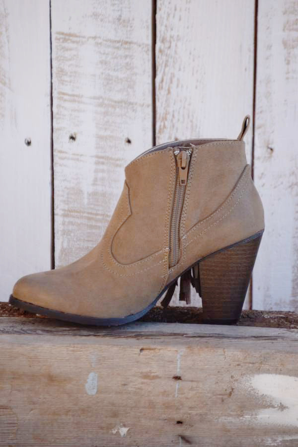 The Lonestar Booties - Taupe - Angel Heart Boutique - Booties - Angel Heart Boutique  - 4