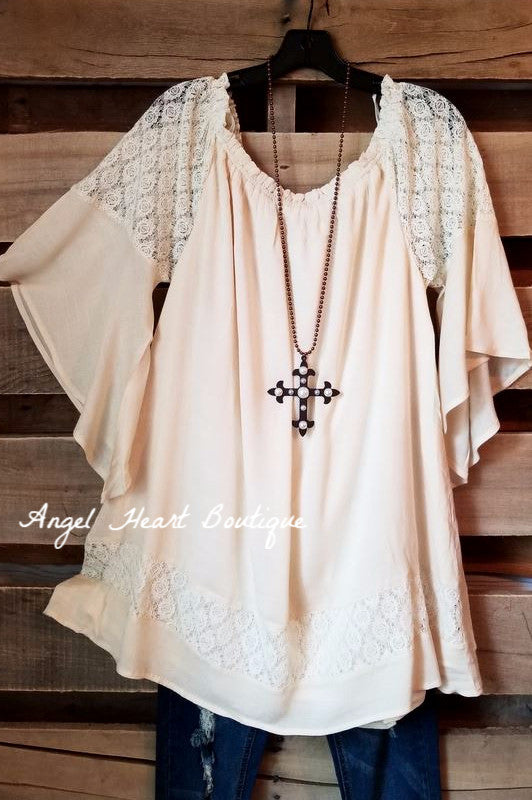 Tell Your Story Top - Beige -
