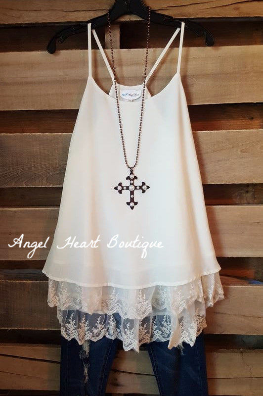 Ballerina Dreams Top - Beige/Cream - Angel Heart Boutique - Dress - Angel Heart Boutique
