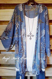 Les Hortences Cardigan - Blue - Emerald - Cardigan - Angel Heart Boutique  - 1