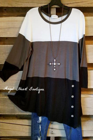 Leave Nothing To Chance Tunic - Mocha