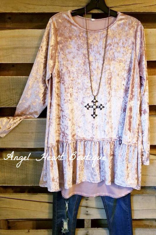 Doing It All Tunic - Mauve - SALE-BLACK FRIDAY [product type] - Angel Heart Boutique