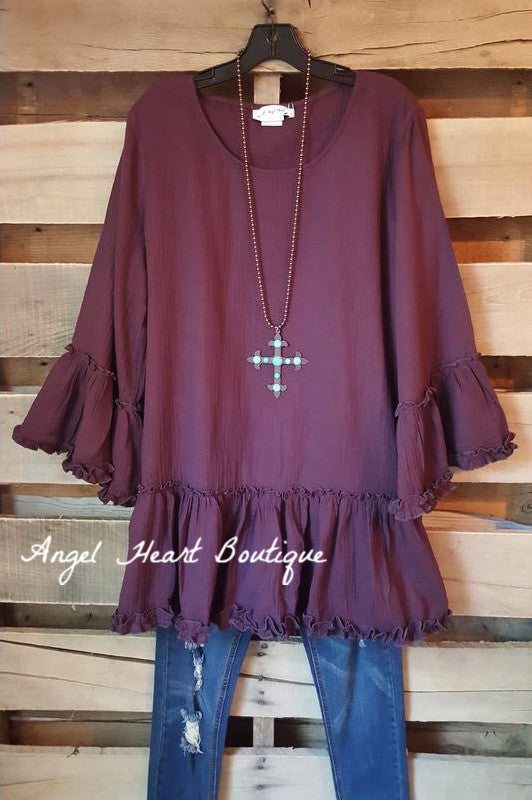 Full of Posies Tunic - Purple - Angel Heart Boutique - Tunic - Angel Heart Boutique  - 1