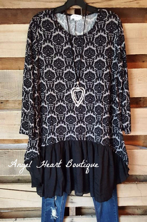 You Were Meant For Me Dress - Black - Angel Heart Boutique - Tunic - Angel Heart Boutique  - 2