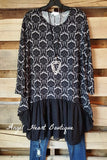 You Were Meant For Me Dress - Black - Angel Heart Boutique - Tunic - Angel Heart Boutique  - 1