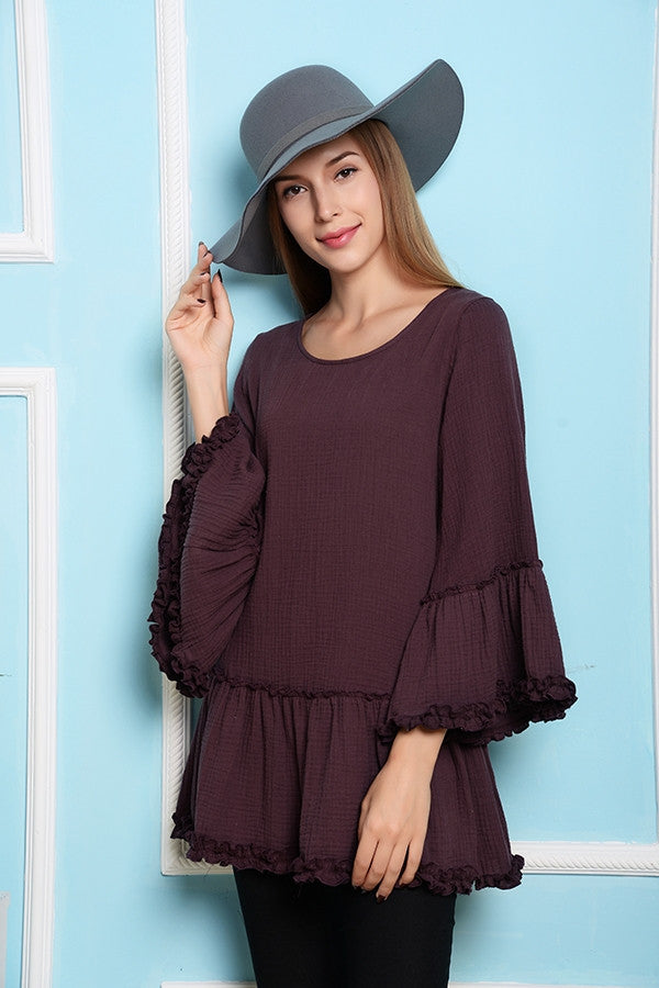 Full of Posies Tunic - Purple - Angel Heart Boutique - Tunic - Angel Heart Boutique  - 2