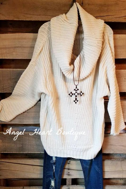 Perfect Weather Sweater -Cream - SALE [product type] - Angel Heart Boutique