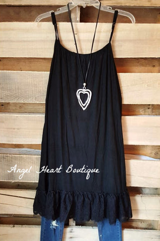 Extender: Slip on Tank/Tunic - Charcoal