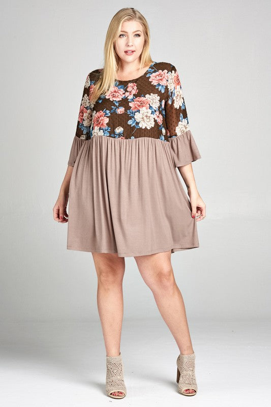 Sound Of Your Heart Dress - Brown [product type] - Angel Heart Boutique