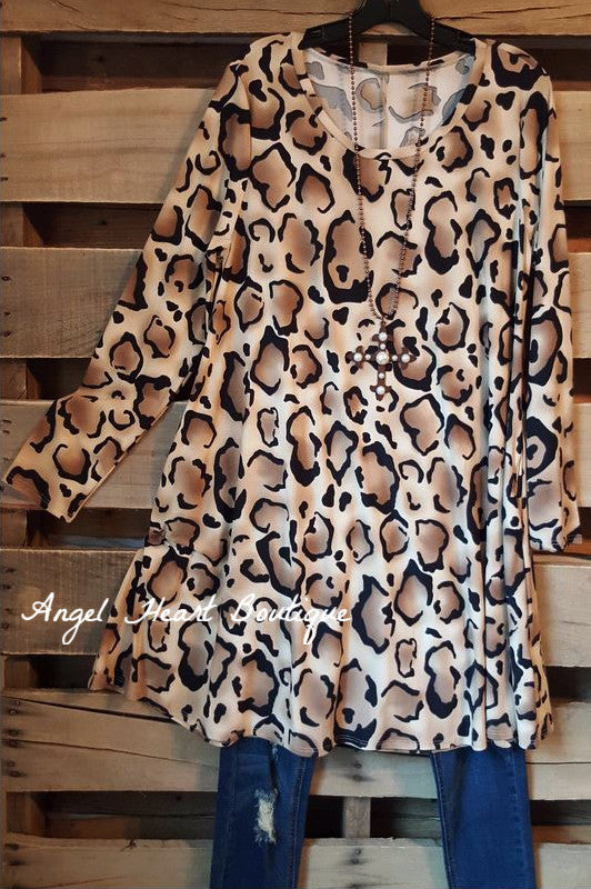 Promise To Keep Tunic - Leopard - Cezanne - Tunic - Angel Heart Boutique