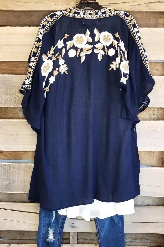 Anywhere With Me Cardigan - Navy [product type] - Angel Heart Boutique