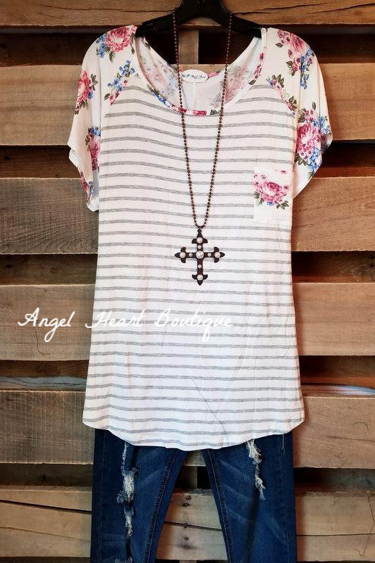 Inspire Me Top - Ivory - SALE [product type] - Angel Heart Boutique