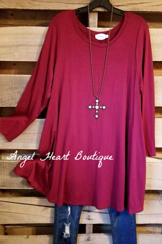 Ready To Go Burgundy Dress [product type] - Angel Heart Boutique