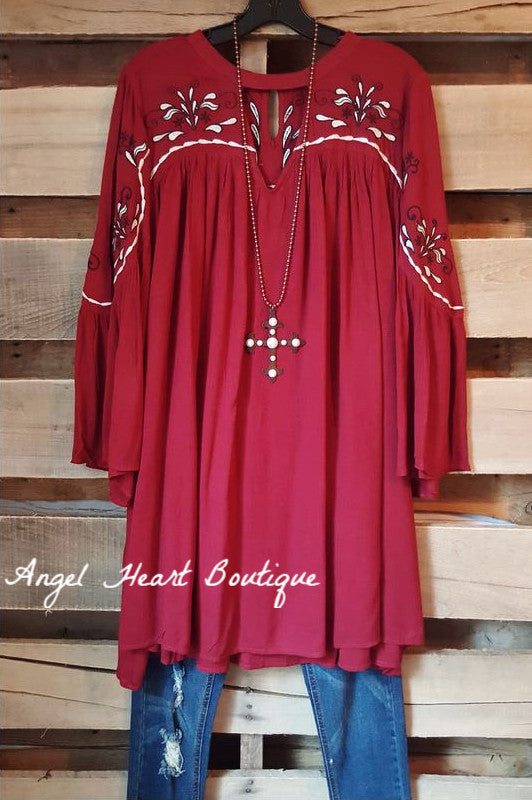 In Hopes Of Burgundy Dress - Umgee - Dress - Angel Heart Boutique