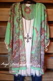 Feel The Wind Cardigan - Evergreen - Umgee - Cardigan - Angel Heart Boutique