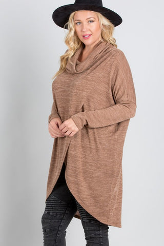 Snuggled Up Poncho - Beige - SALE