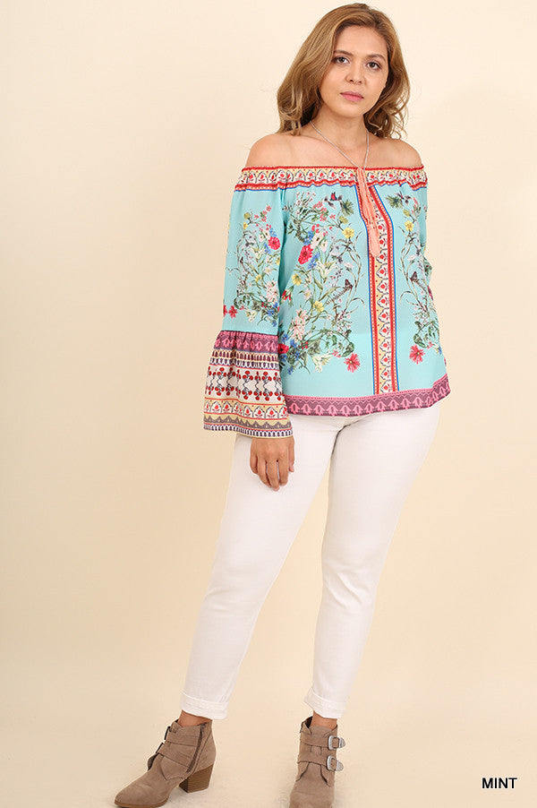 Influenced By Florals Top - Mint - SALE