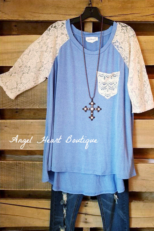 Stronger Love Top - Blue