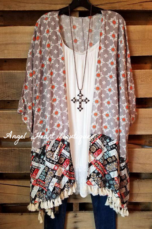 Good To Flow Cardigan - Grey [product type] - Angel Heart Boutique