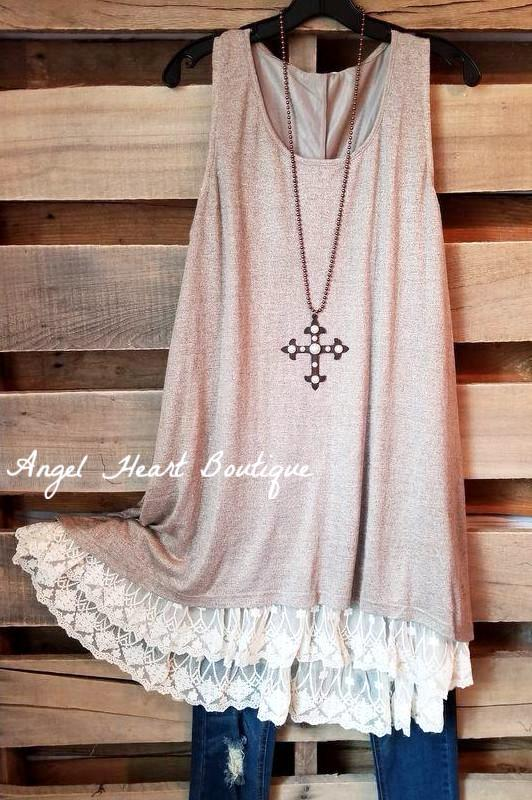 Leave Nothing To Chance Tunic - Mocha [product type] - Angel Heart Boutique
