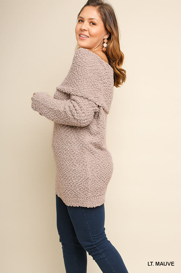 Dreamiest Days Sweater - Lt Mauve [product type] - Angel Heart Boutique