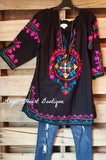 Beach Vibes Tunic - Black [product type] - Angel Heart Boutique