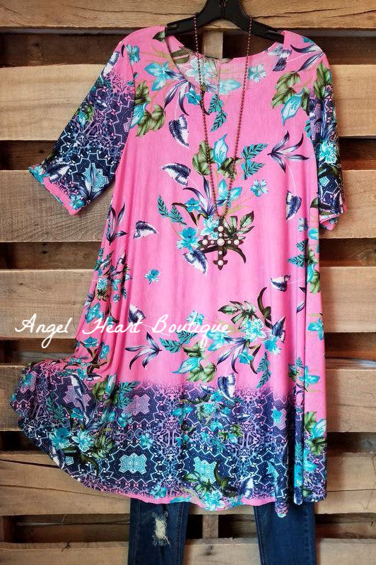 Born To Fly Tunic - Pink - SALE [product type] - Angel Heart Boutique