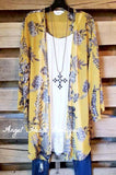 Les Hortences Cardigan - Mustard [product type] - Angel Heart Boutique