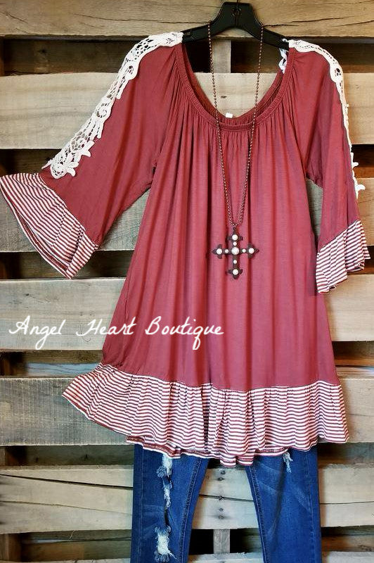 My Solid Love Top - Marsala