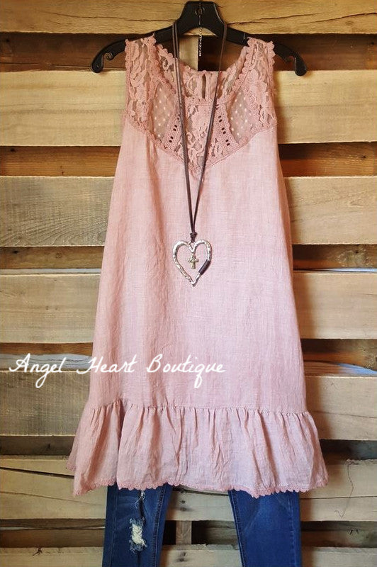 Precious Soul Dress - Blush - Umgee - Dress - Angel Heart Boutique