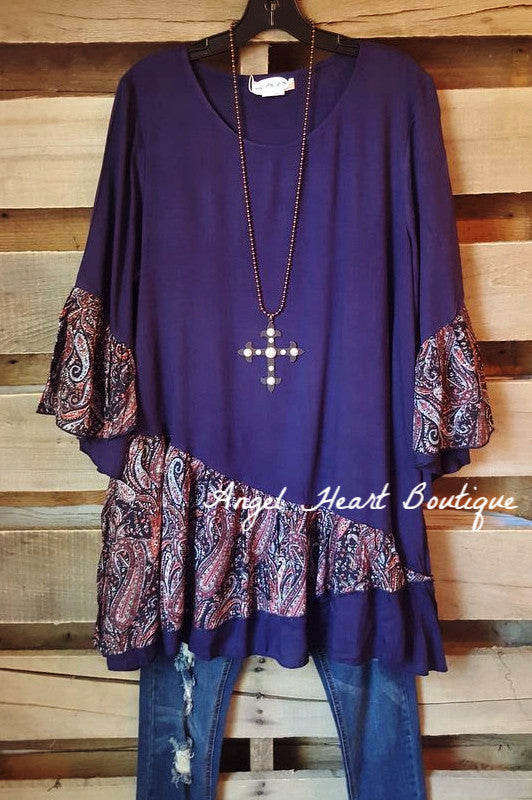 Not Going Out Like That Tunic - Blue - Sassybling - Tunic - Angel Heart Boutique  - 1