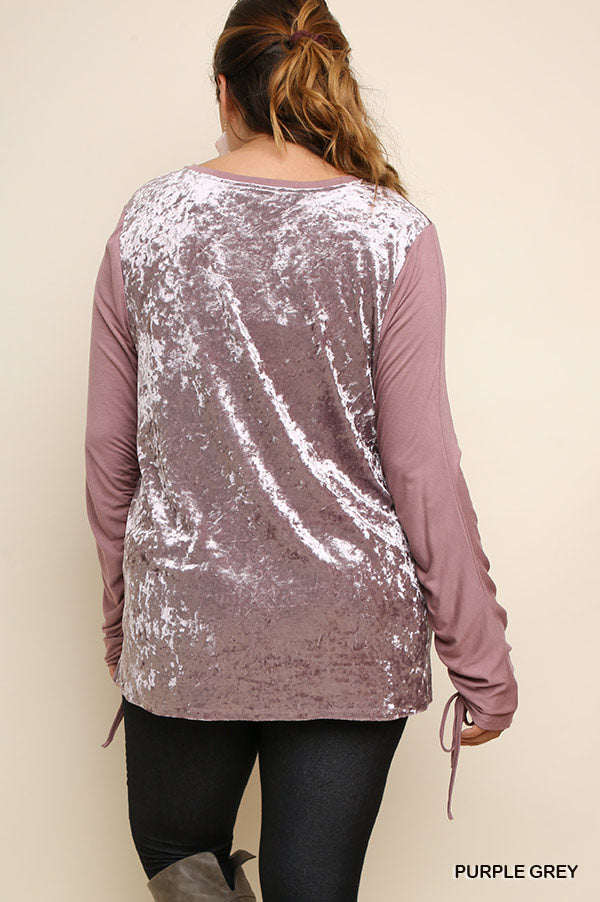 Know Your Path Top - Purple Grey - SALE